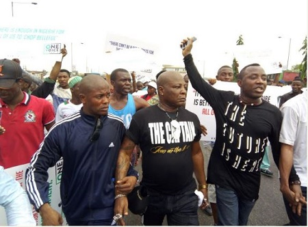 Image result for Area Father, Charly Boy Oputa Stages Shirtless Protest In Lagos Today