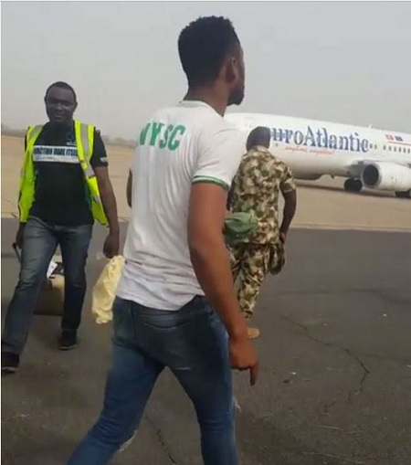 Outrage as FAAN Officials Publicly Assault Corps Members for Protesting Flight Delay in Adamawa