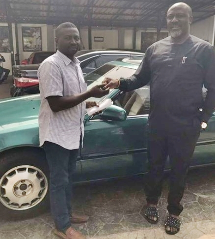 Checkout the Car Senator Dino Melaye Gifted His Special Assistant That Got Everyone Talking (Photo)