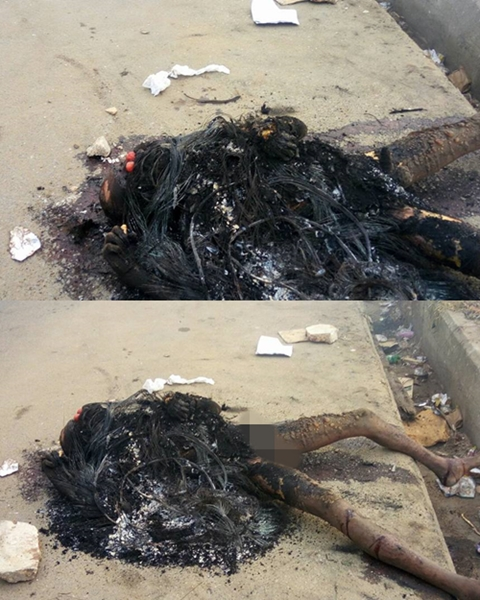 End Of The Road Suspected Car Battery Thief Burnt To