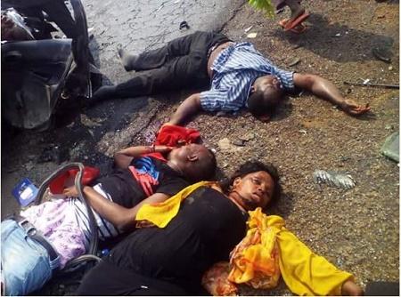 Blood Everywhere: Terrible Accident Along Lokoja-Okene Road