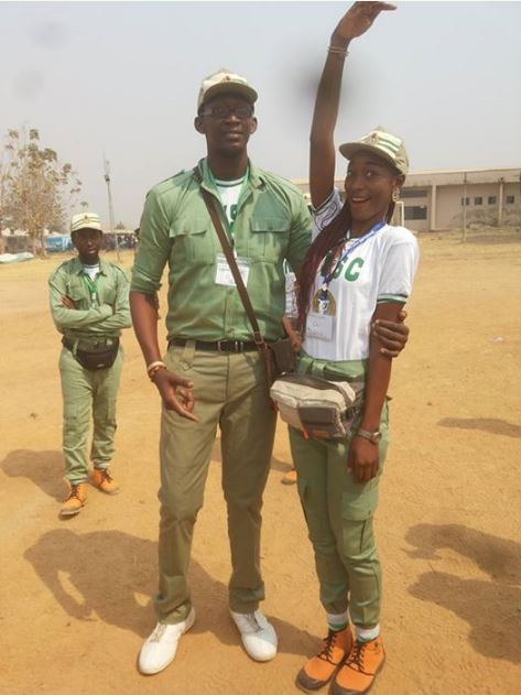 Meet the The Tallest Guy in Abuja NYSC Camp (Photos)