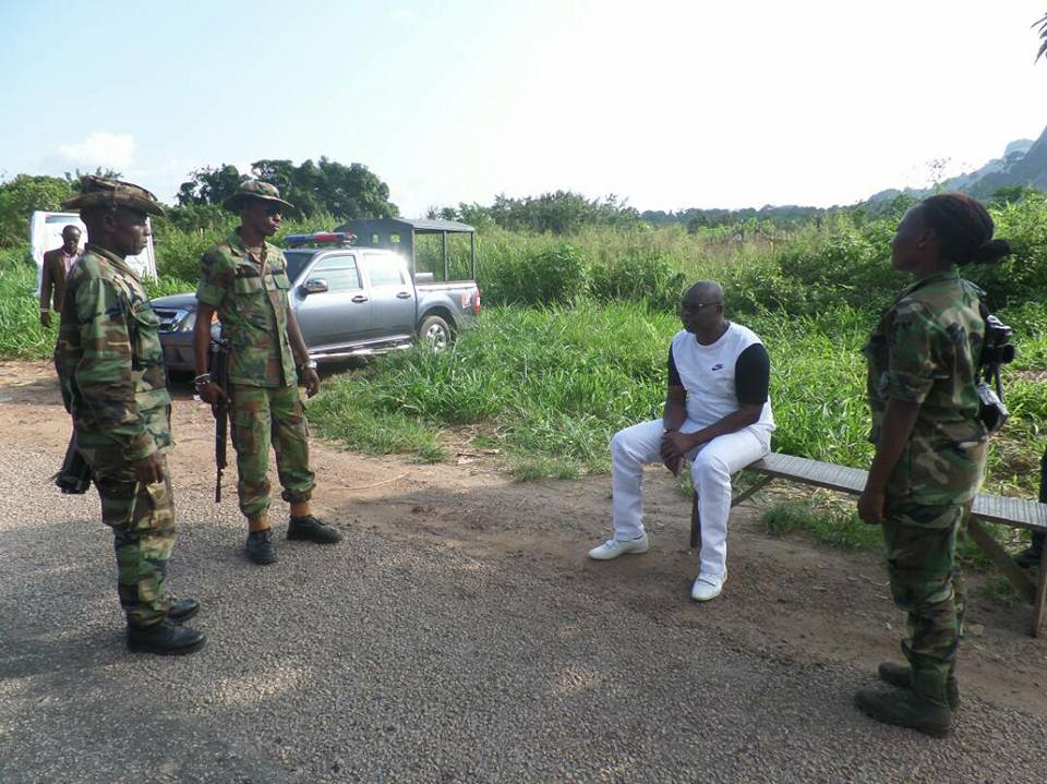 Fayose Meets Soldiers at a Checkpoint, Narrates How He Ran Away From the Army (Photos)
