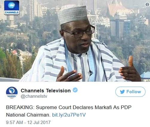 Ahmed Markafi, News, Supreme Chairman, PDP,