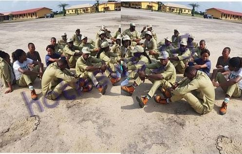 NYSC Members Allegedly Forced to Sit Under the Sun for Complaining About Poor Welfare (Photo)