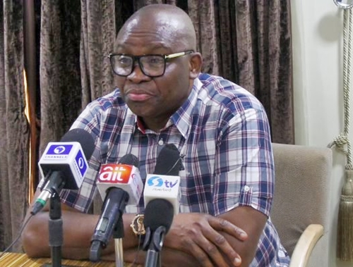 Gov. Fayose Threatens to Sue FG, Writes Osinbajo, Demands Release of Report on Corruption Against SGF, NIA DG
