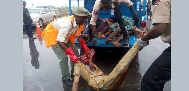 Bloody Fatal Road Accident Kills Six People In Ogun State