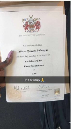 Nigerian Lady In UK, Opeyemi Bags First Class Degree In Law, Dedicates It  To Her Late Mom (Photos)   Gistmania  First Class Degree