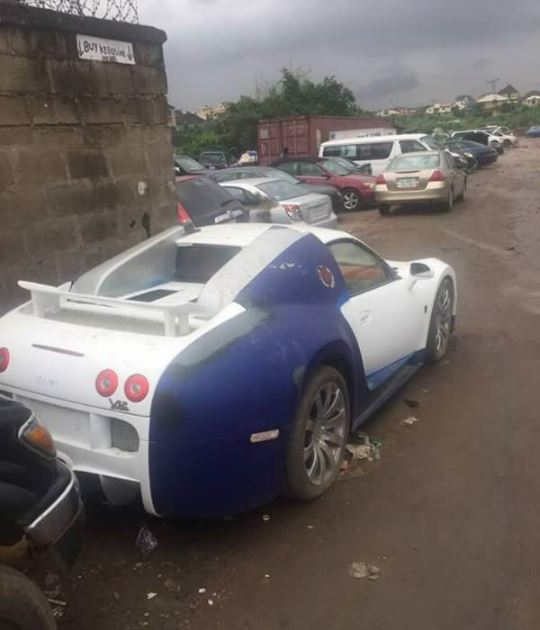 bugatti veyron reportedly costing n472million abandoned to rot in lagos photos. Black Bedroom Furniture Sets. Home Design Ideas