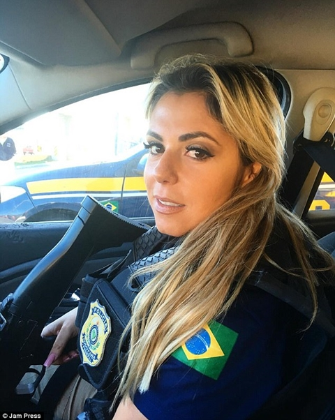 Brazilian female cop