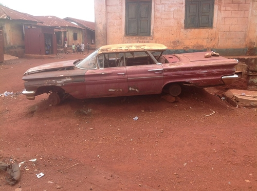 Checkout the the Official Car of Nigeria's First Republic Minister Spotted in Otukpo, Benue State (Photos)