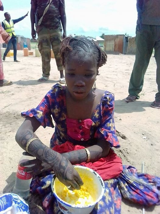 Very Young Female Suicide Bomber Caught by Security Operatives in Borno (Photo)
