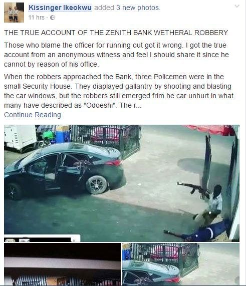 Imo State Zenith Bank Robbers Used 'Odeshi Juju' to Rob Customer at the Bank - Lawyer Narrates