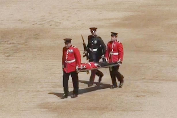 Drama as Guardsman Faints During Queen Elizabeth's Birthday Parade (See Photos)
