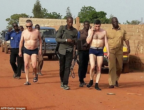 Foreign Hostages Seen Wearing Only Pants After Being Released from Their Terrorist Abductors in Mali (Photo)