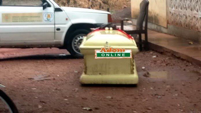 Residents in Shock as Man Finds a Coffin With Human Remains Buried on His Plot of Land (Photos)