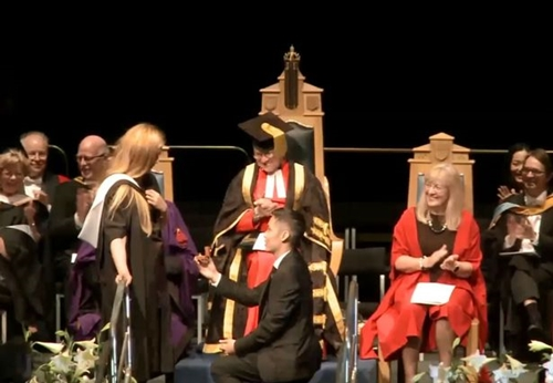 So Awkward! Man Proposes to His Girlfriend at Her Graduation Ceremony and It Goes Wrong (Photos)