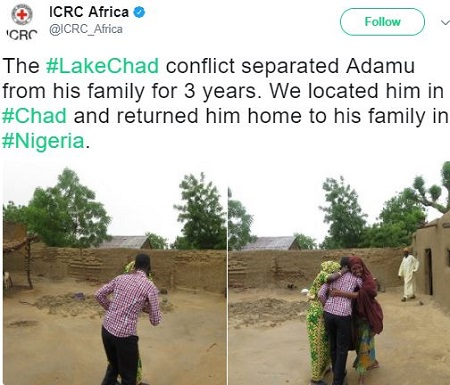 Nigerian Man Reunites With His Family After Three Years of Separation Due to the Lake Chad Crisis (Photos)