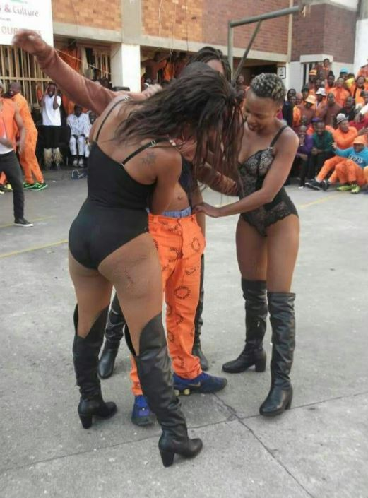 Prison Officials in Trouble for Allowing Half N*ked Strippers Entertain Prisoners (Photos)