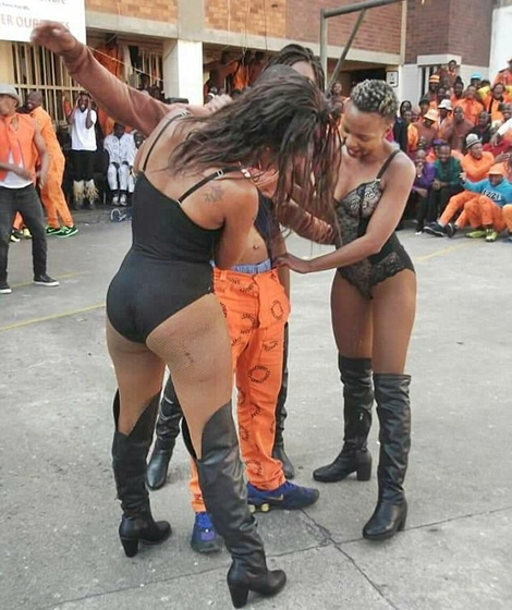 Outrage as Horny South African Prison Inmates Were Treated to a Free Show by Strippers (Photos)