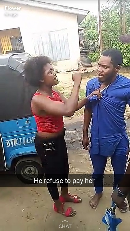 Nigerian Man Disgraced Publicly Over Failure to Pay Prostitute After 'Service Delivery' (Photos)