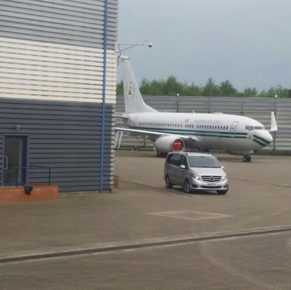 Buhari's Idle Private Jet in the United Kingdom Reportedly Gulps Over N83million in 52 Days