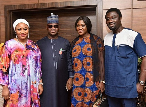 I'll Serve Kogi with My Years of Experience - Mercy Johnson All Smiles as She Poses with Gov. Bello as New SSA