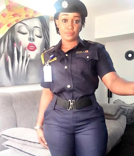 image Female ebony police suspect was caught