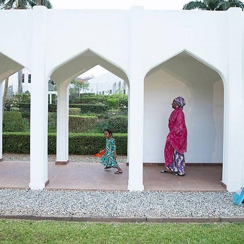 {filename}-See Beautiful Photos Of Aisha Buhari Taking A Walk With Her Adorable Granddaughters At The President