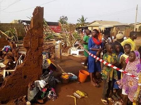 Image result for 60 houses destroyed as rainstorm wreaks havoc on Ondo community