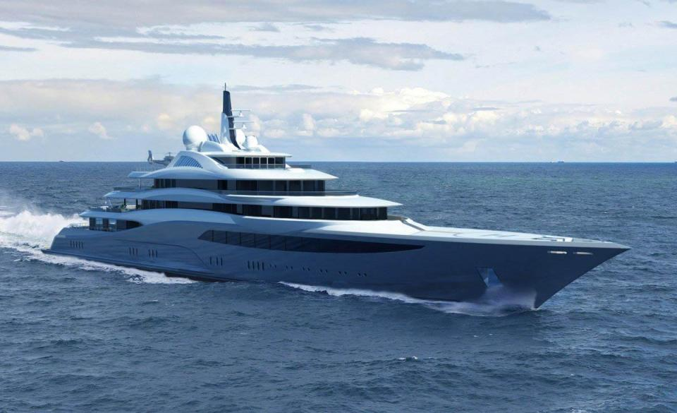 See the Inside of Luxury 160million Pounds Private Mega-yacht Complete with Glass Elevator and Outdoor Cinemas (Photos)
