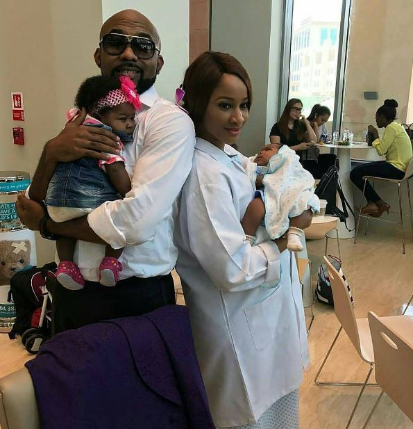 Banky Ws Fiancee Adesua Etomi Gives Birth To Twins Photo