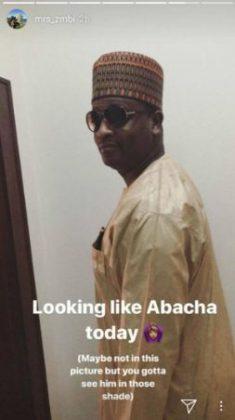 You Look Like General Abacha - Zahra Buhari Tells Husband on Snapchat