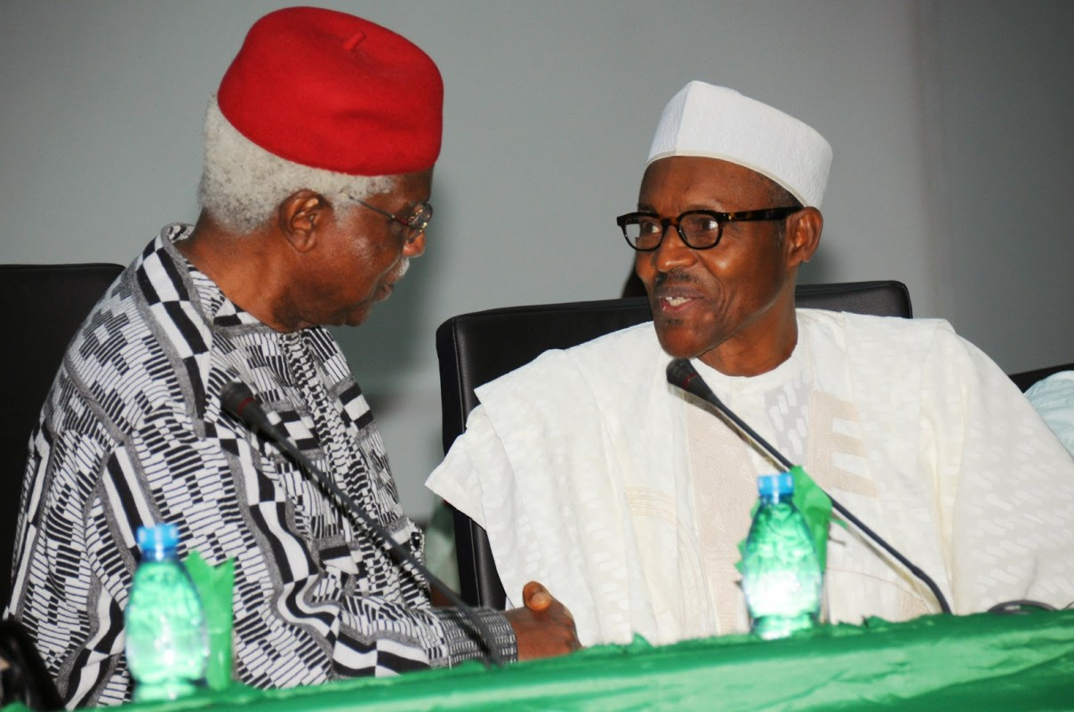 Nigerians React To Buhari's Announcement Of Ekwueme's Medical Treatment Abroad...See What They Are Saying