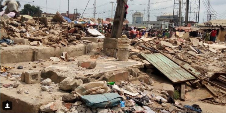 Popular Yaba Market Demolished By Lagos State Government