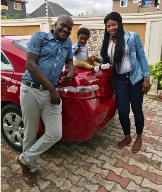 Beautiful Lady Gets Car Gift from Husband on Her Birthday (Photos)