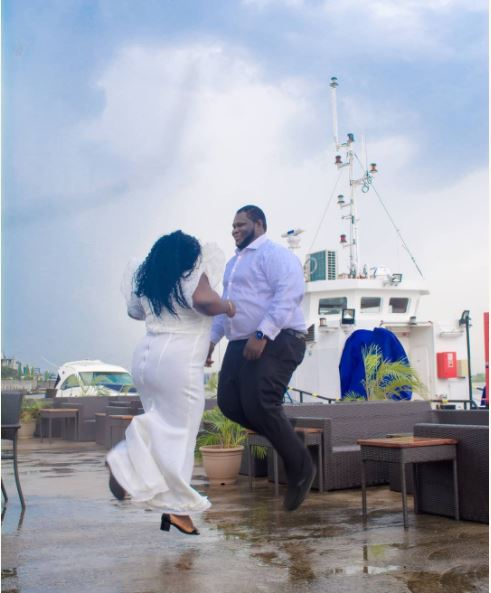 Checkout These Pre-Wedding Photos Of Plus-Sized Nigerian Couple