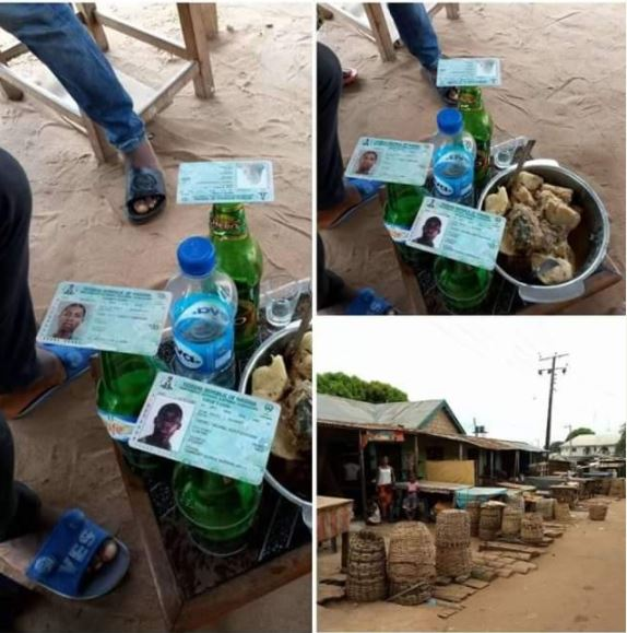 Anambra Election: Youths Use Voter's Card to Drink Cold Beer (Photos)