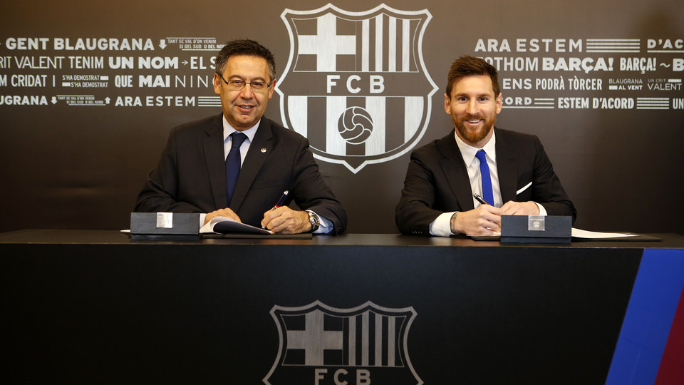 BREAKING News: Messi Signs Contract Extension With Barcelona To 2021...His Buy-Out Clause Will Blow Your Mind