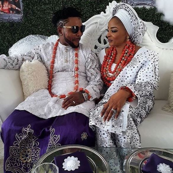See Beautiful Photos From the Traditional Wedding Ceremony of Singer Oritsefemi And His Darling Wife, Nabila