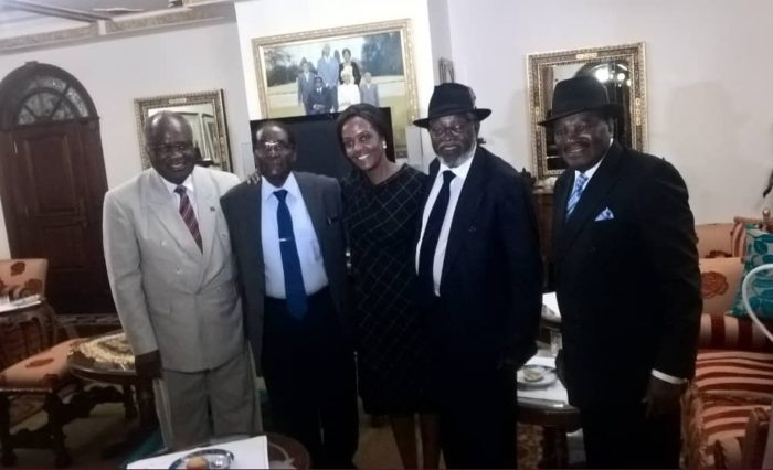 Photo: Robert Mugabe and Wife Looking Humble as They Welcome Visitors from Namibia