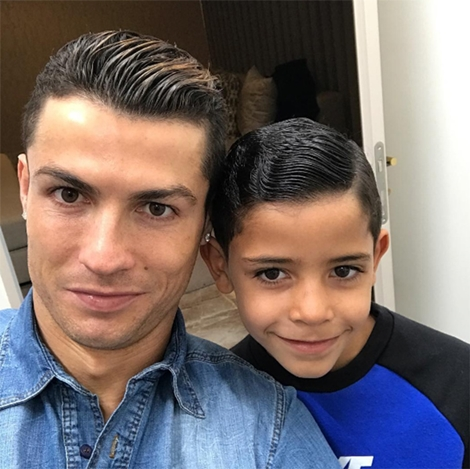Like Father Like Son: Watch as Cristiano Ronaldo's 7-year-old Son Score a Fantastic Free-kick