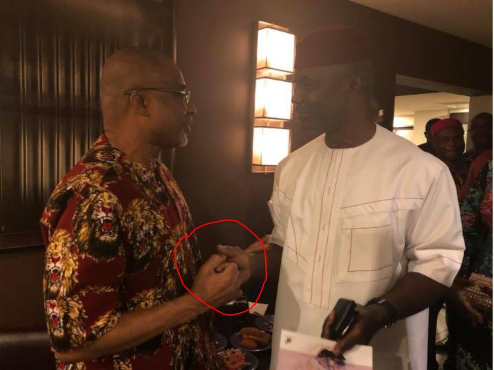 See The Nigerian Senator's Handshake in New York That Has Got People Talking (Photos)