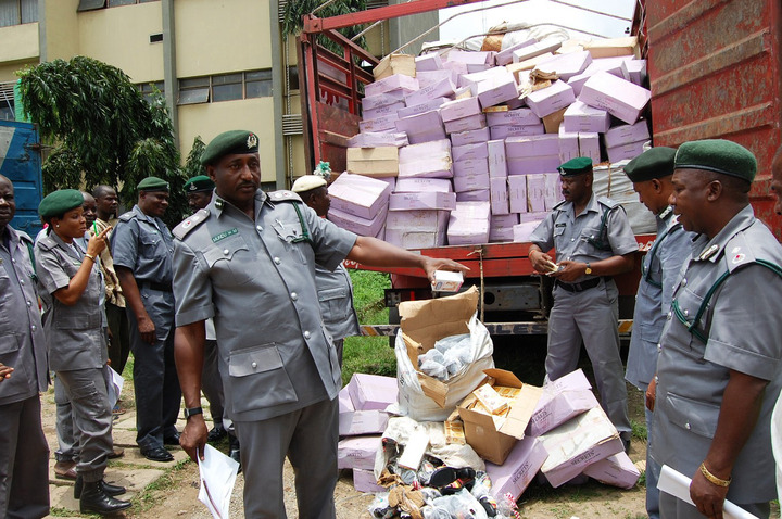 See the Number of Bags of Rice Nigeria Customs Service Seized in Two Years