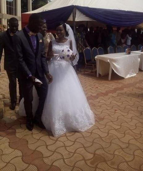 rama as Nigerian Bride Storms University in Her Wedding Dress to Write Exams (Photos)