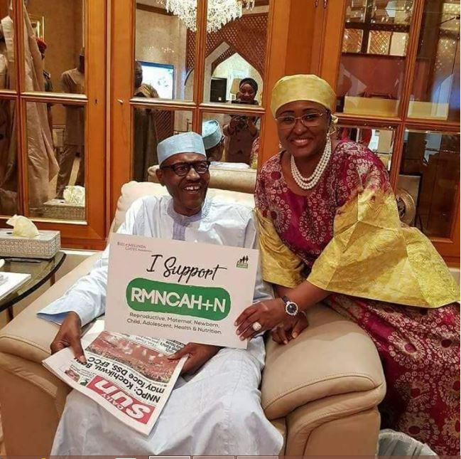 President Muhammadu Buhari All Smiles In New Photo With His Wife Aisha