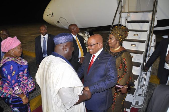 Nigerians Roast Governor Rochas for Erecting Humongous Statue of Jacob Zuma in Owerri (Photos)