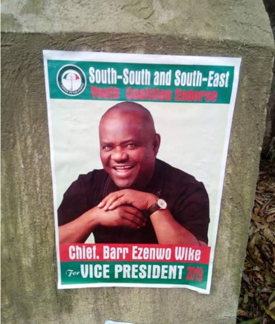 Presidential Race: Campaign Posters of Governor Wike Flood Abuja (Photos)