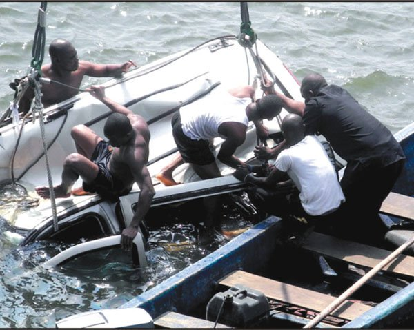 Retired Air Vice Marshal Dies Along With His Driver After Their Car Plunged Into the Lagos Lagoon (Photo)