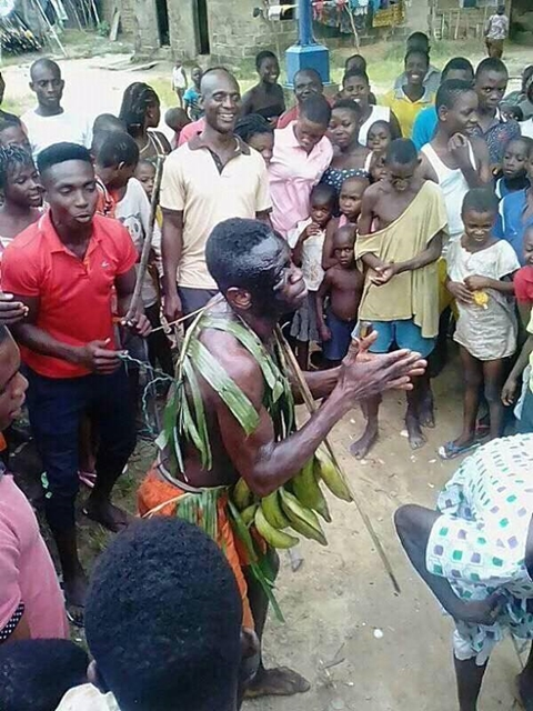 See What Delta Community Did to a Notorious Local Thief Caught Stealing Plantain (Photos)